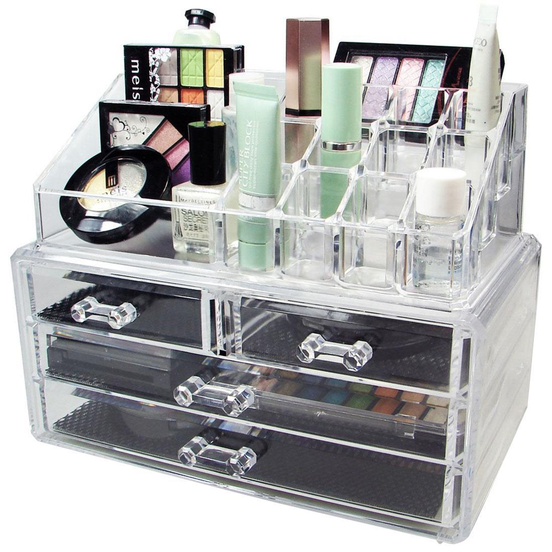 2018 New Acrylic Makeup Organizer Storage Box Case Cosmetic Jewelry