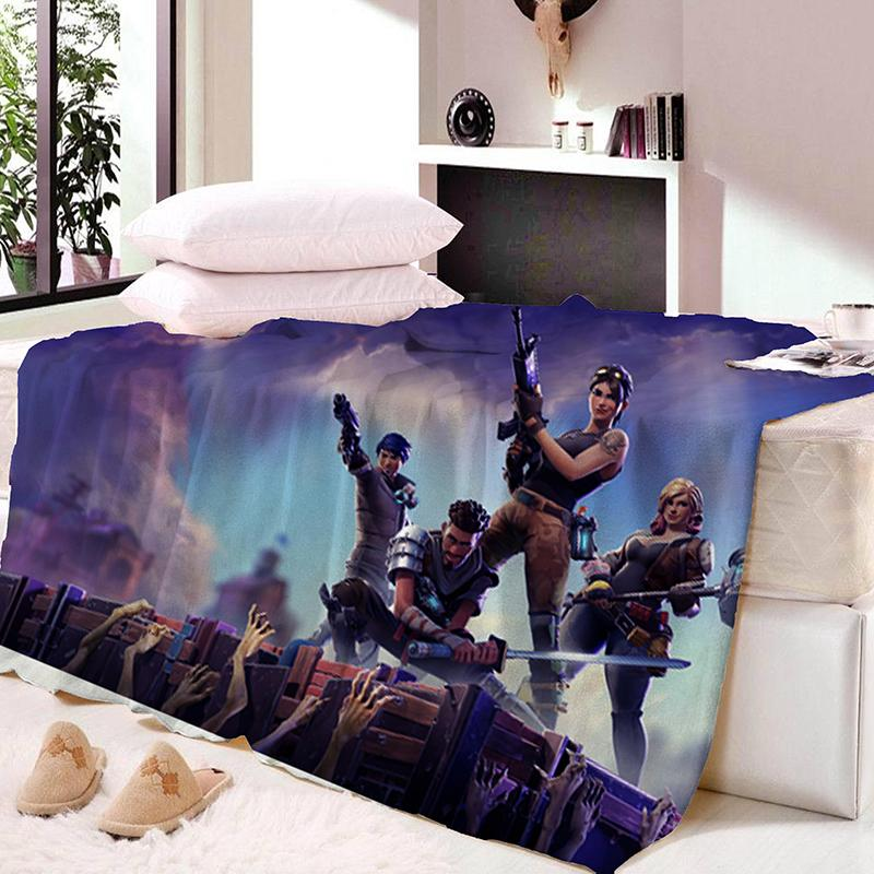 Fortnite Nights Throws Bedding Baby Kids Bed Home Bedroom Decoration ...