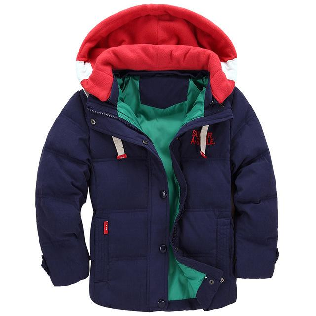 076d4488b Baby Boy Clothes Boys Winter Coat Kids Hooded Jacket Children Plus ...