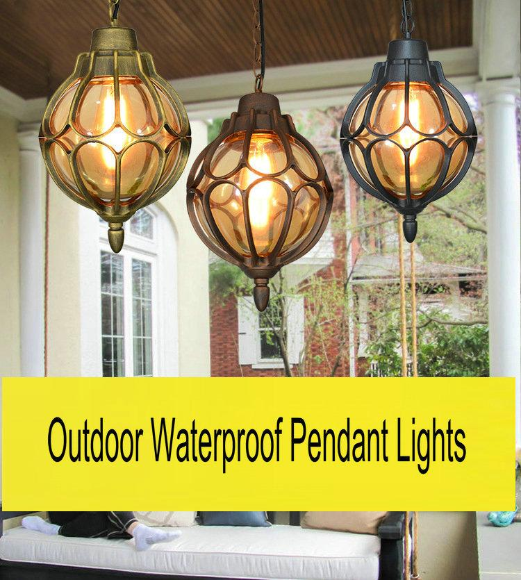 outdoor pendant lighting fixtures pergola artpad classic outdoor hanging lamp ac110v 220v villa balcony courtyard pavilion e27 led waterproof pendant lights fixtures brass light star