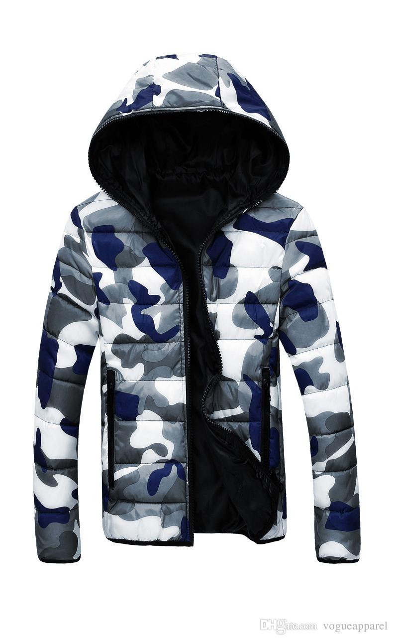 a6fa938c4328b 2019 Men Hooded Collar Down Jackets Camouflage Reversible Coat Online Cheap  Warm Jacket Zipper Hoodies From Sukicare, $29.17 | DHgate.Com