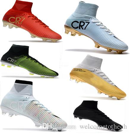 2ccb7b418 2019 Cheap Soccer Shoes Mercurial Superfly FG High Quality 2017 ACC CR7  Football Shoes For Sale Cleats Cheap Sports Boots Size 35 45 From  Welcometothech