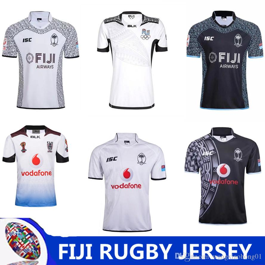 2018 Fiji Home White Rugby Jersey Thai Quality New Zealand 2017 Jerseys New  Fiji Rugby Sevens Olympic Shirt Jersey Fiji Rugby Size S-3XL New Zealand ... 9b56d42d0