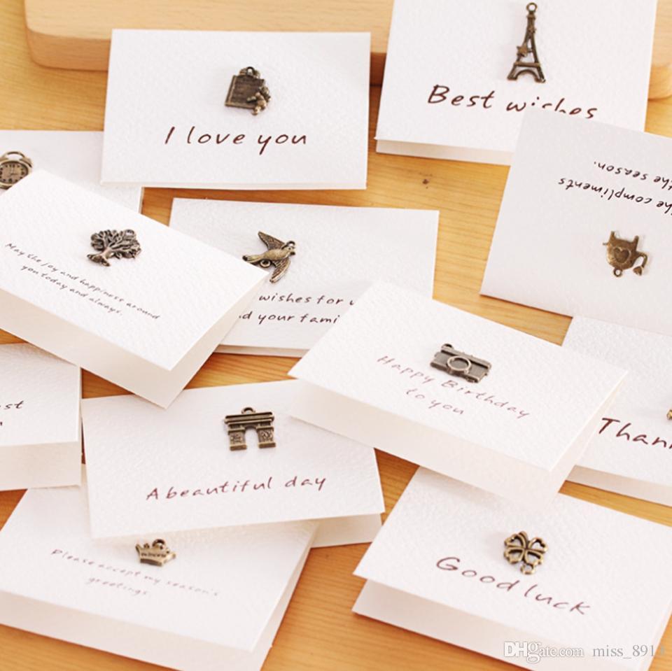 Retro Memory Mini Thank You Cards With Envelope For Birthday Wedding