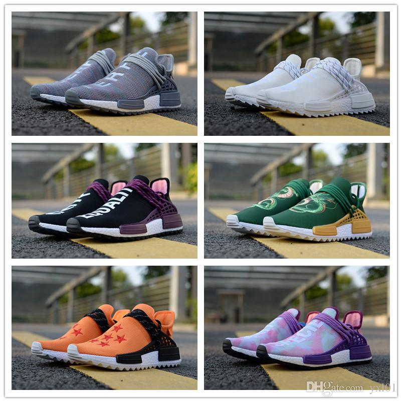 a61cbe893 High Quality Human Race Pharrell Williams X Trail NERD Equality Orange Holi  CREAM Casual Running Shoes Men Women PW HU Sports Sneakers 36 45 Cheap Shoes  Men ...