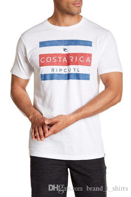 bb91a83dbeeaa Rip Curl S Tee-shirt pour hommes manches courtes blanc Costa Rica Heather  100% coton vente chaude 100% coton bas prix Top Tee pour adolescents