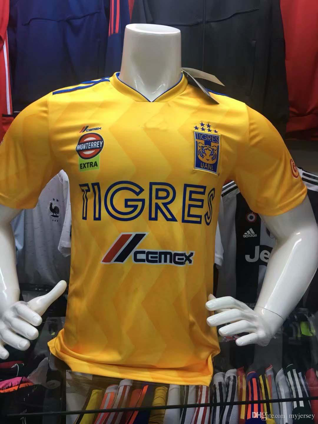 d802f83e7 2019 TOP THAI QUALITY 2018 Mexico Club Tigres UANL Soccer Jersey Yellow  Home 6 Stars GIGNAC Jerseys Vargas 18 19 Camisa Ayala SOSA Football Shirt  From ...