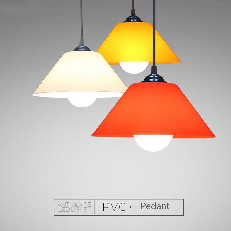 Compre Modern Pingente De Pvc Luminárias De Plástico Abajur Para