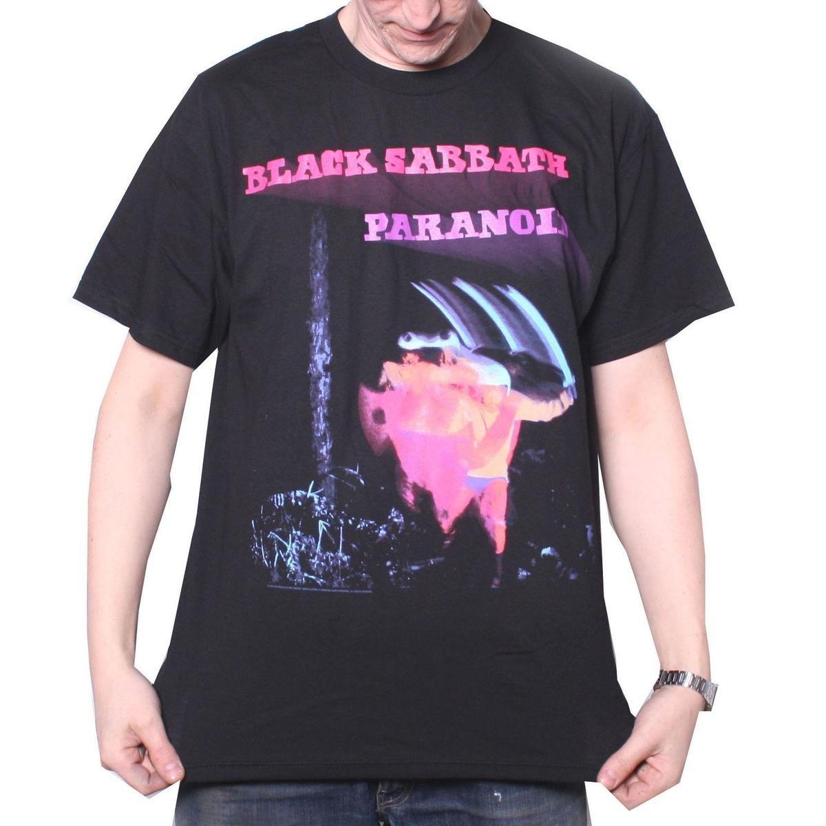 Black Sabbath T Shirt Paranoid 100 Official Full Screen Print Ozzy