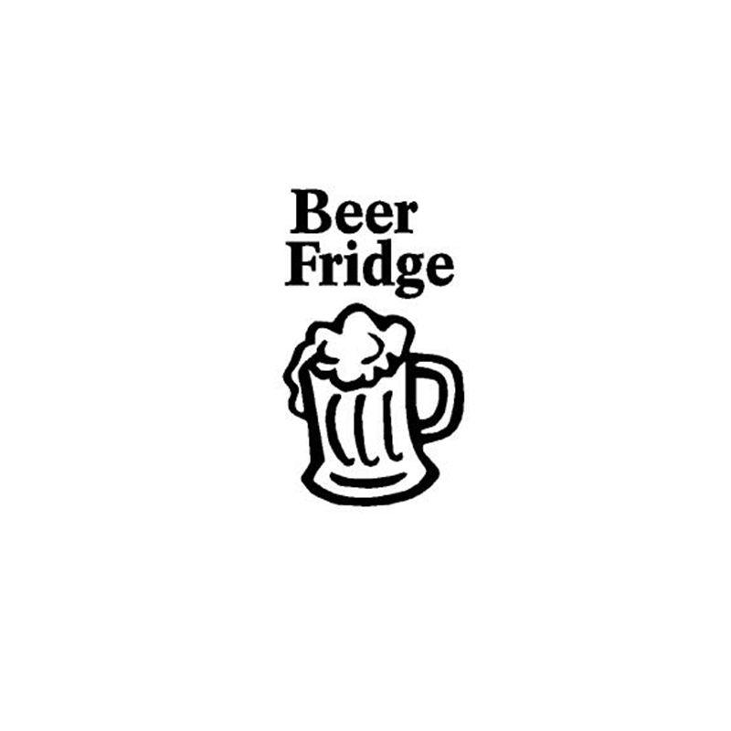 home decoration stickers posters wall stickers beer fridge vinyl