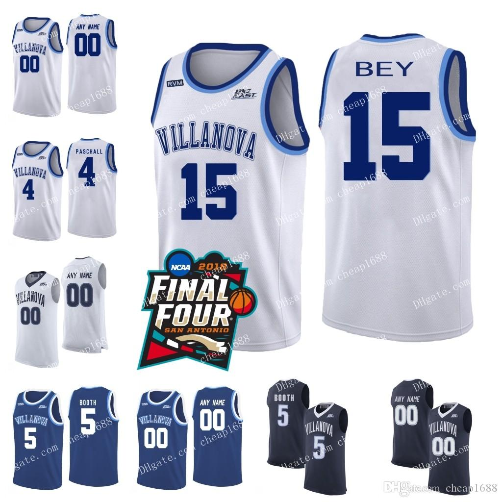 7f63b4e51a2 2019 NCAA Villanova Wildcats 15 Saddiq Bey 21 Dhamir Cosby Roundtree 2  Collin Gillespie 22 Peyton Heck 42 Dylan Painter College Basketball Jersey  From ...