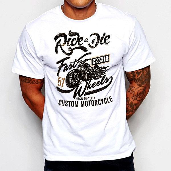 e68120c819067 Biker T Shirt Motorcycle Tattoo Vintage Street Racing Sports Car Custom Bike  Tee T Shirts Funky Tee Shirt For Sale From Identatee