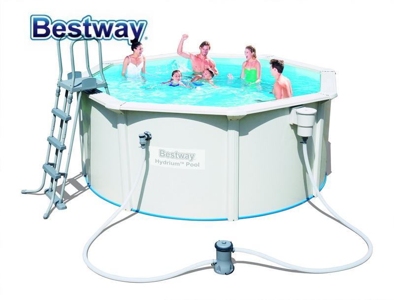 2018 56563 Bestway 300*120cmhydrium Pool 10x12\' Round Frame Swimming ...