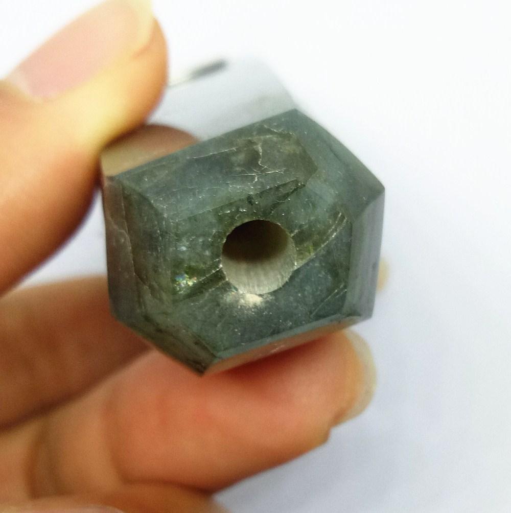 자연 보석 포인트 tobacc 튜브 labradorite 크리스탈 지팡이 연기 파이프 세 금속 메쉬와 1 청소 브러시 치유