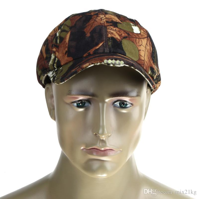 554b8c4d2ea0f Folding Camouflage 5 LED Light Hunting Fishing Hat Sports Baseball Caps  Outdoor Sun Hat Foldable Pesca Accessories Fishing Cap UK 2019 From  Mix21kg