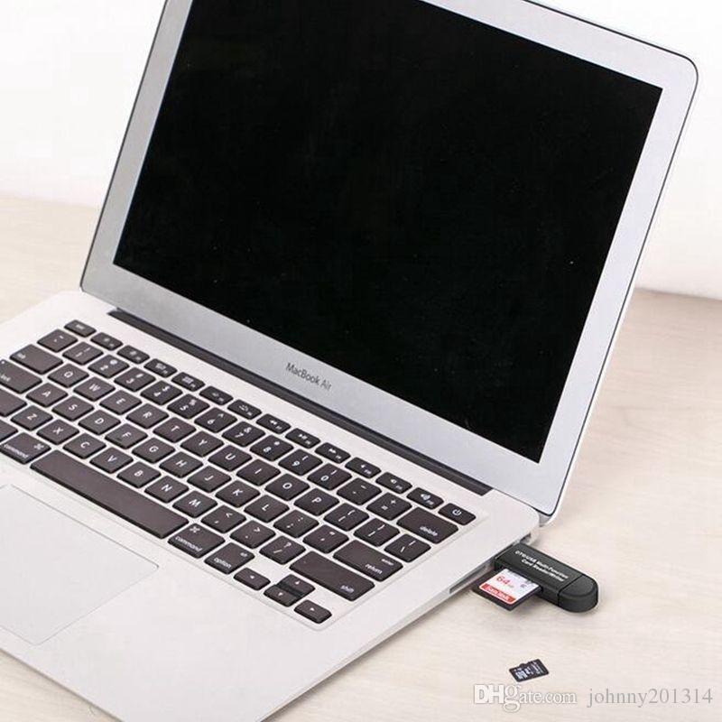 3 em 1 USB OTG Card Reader Flash Drive de alta velocidade cartão SD USB 2.0 Universal OTG TF / para o telefone Android Computer extensão cabeçalhos