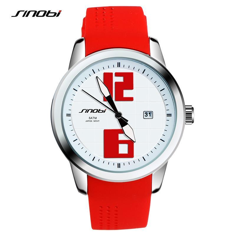 3eacb66a837 Compre SINOBI Moda Esportes Mulheres Relógios De Pulso Silicone Pulseira De  Luxo Da Marca Das Senhoras De Execução De Genebra Relógio De Quartzo  Montres ...
