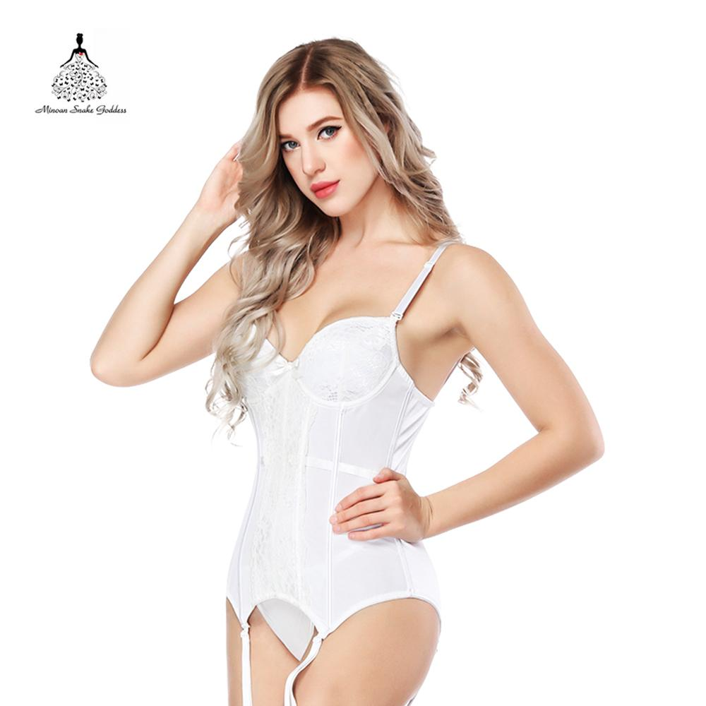 7da12fd481 Corselet And Bustiers Lingerie Women Corset New Sexy White Lace ...