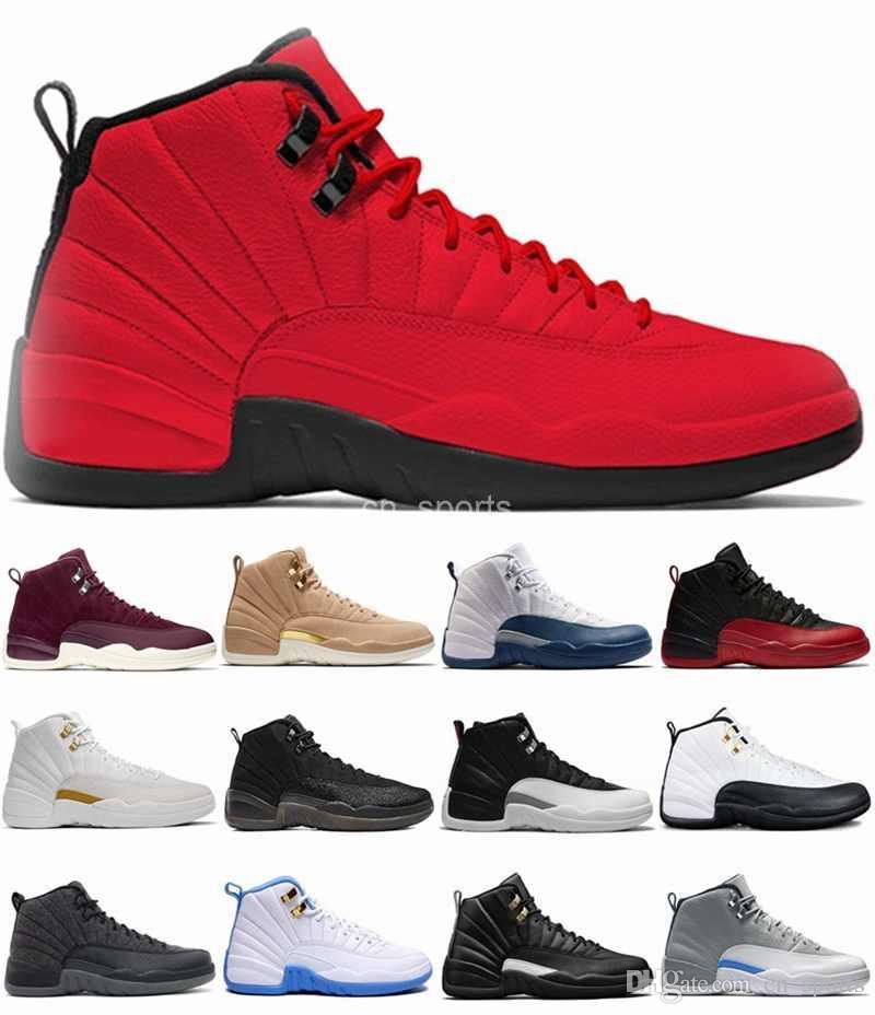 9fa609d12d051 Acquista 2018 New Mens Designer 12 Xii Scarpe Da Basket Taxi Il Maestro Nero  Francese Blu Moda 12 Sport Scarpe Da Ginnastica Zapatos Scarpe Di Marca 41  47 A ...