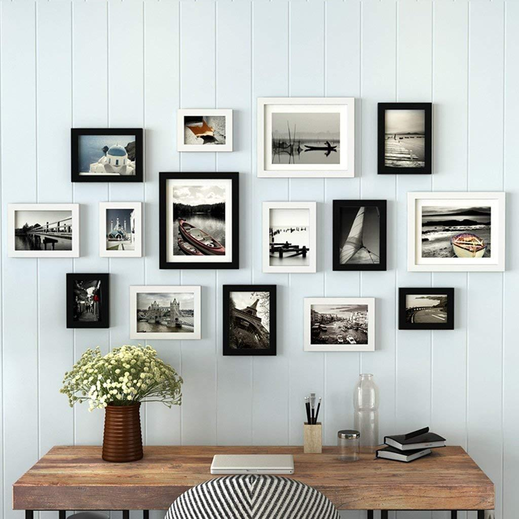 2018 Black+ White Photo Frame Wall Gallery Kit Includes: Frames ...