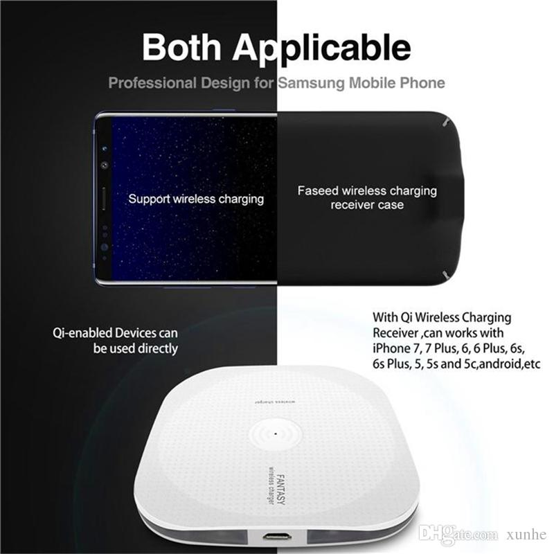 Wireless Chargers Qi Wireless Charger Universal Fast Set For iPhone X 8 Samsung Note 8 S8 S7 LG Charging Pad With Retail Package