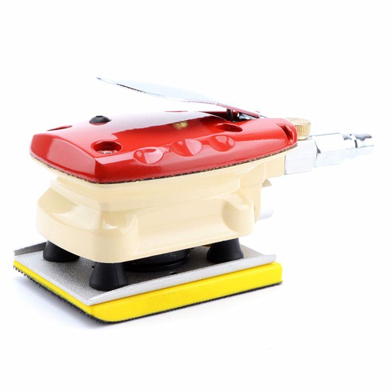 Livraison gratuite carrée machine de polissage pneumatique 6132 polisseuse à air broyeur à vent machine de meulage papier abrasif sèche 70X100mm