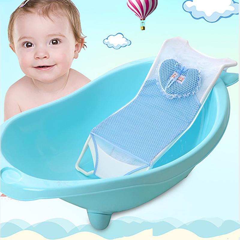 2018 Baby Bath Tub Seat Net Baby Bathbub Bed Infant Bathing Tubs ...