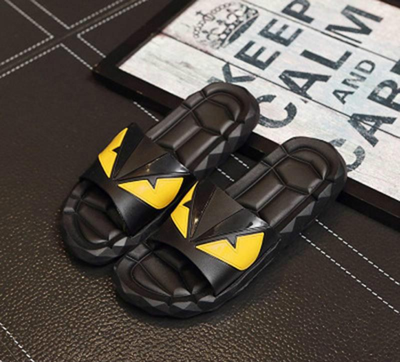 b1937f89a Designer Sandals F E N D Summer New for Mens Sandals Black Beach PVC ...