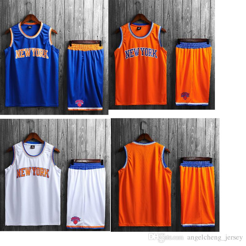 a7e5d998e ... where to buy 2018 adult basketball jerseys new york knicks men jersey  blank jersey personality number