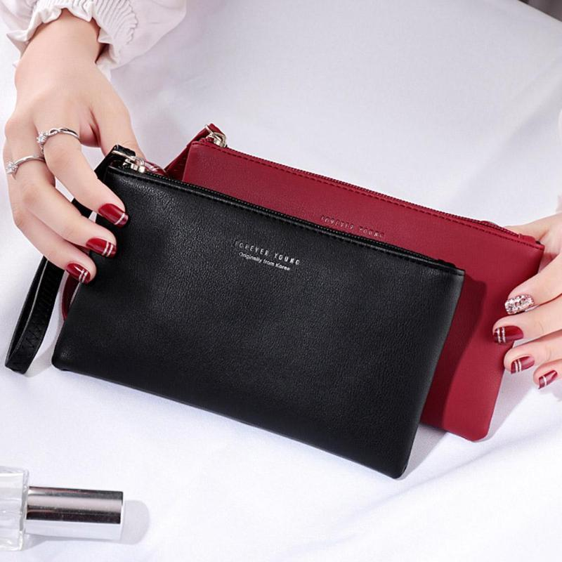73fa5a5432af Women S Clutch Bag Simple Black Pu Leather Crossbody Bags Enveloped Shaped  Messenger Shoulder Bags Big Sale Female Handbag Z0 Beach Bags Designer Bags  From ...
