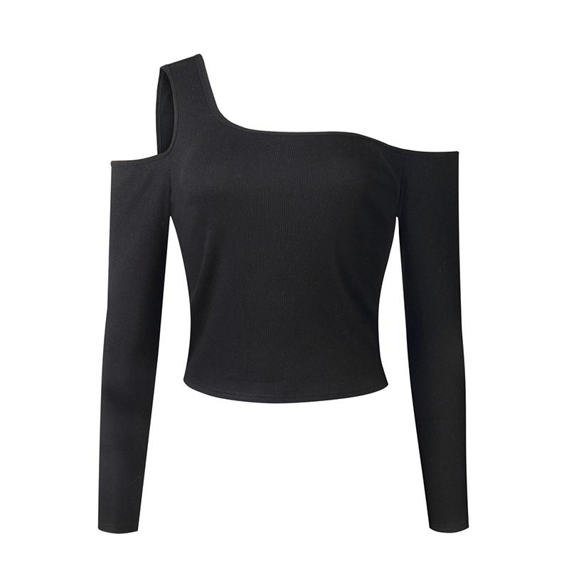 66e2b169aa844f Fashion Summer Long Sleeve Strappy Cold Shoulder T Shirt Tops Women Short  Slash Neck Top Tees Streetwear WS9378V T Shirt With Shirt Moto Shirts From  ...