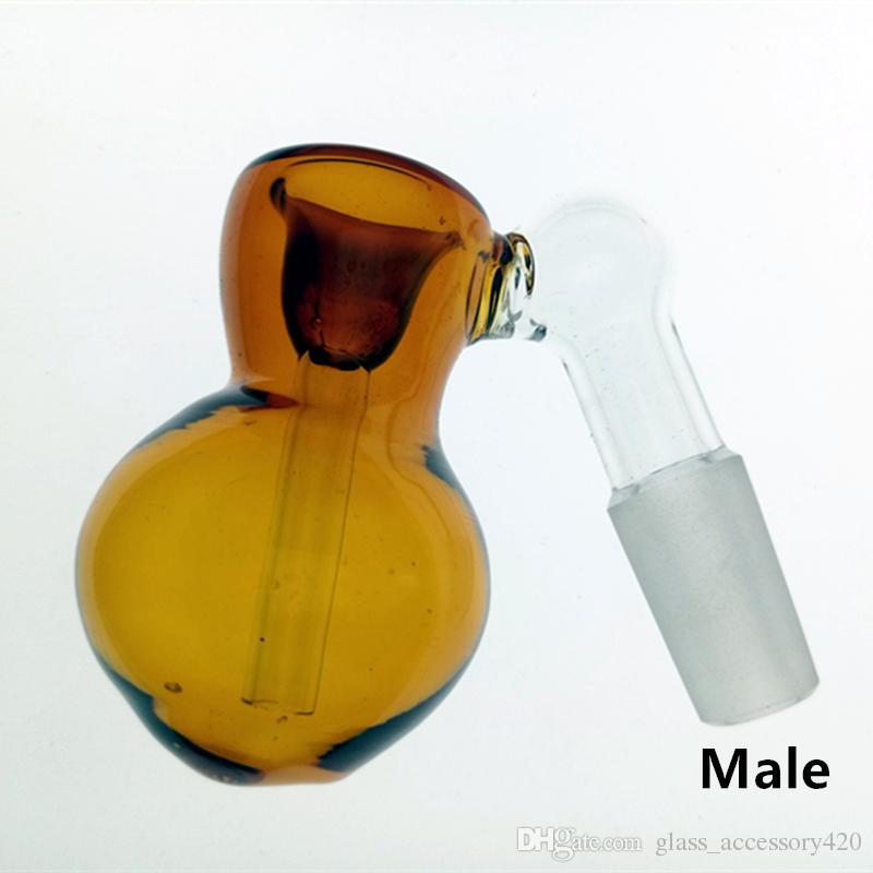 Colorful Glass Ash Catcher Bowls With Female Male Joint Bubbler And Calabash Glass Perc Ashcatcher Bowls