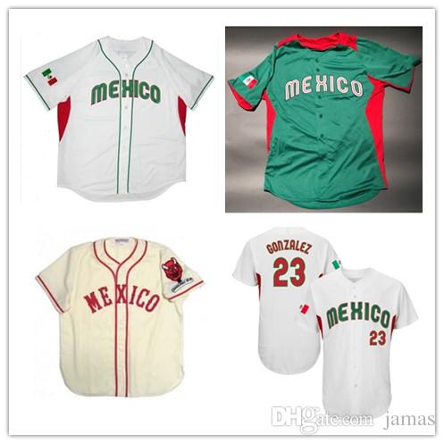 16783d961 Men s Women s Youth Adrian Gonzalez Player Jersey 1957 Mexico City Diablos  Rojos Home Championship patch Baseball Jersey