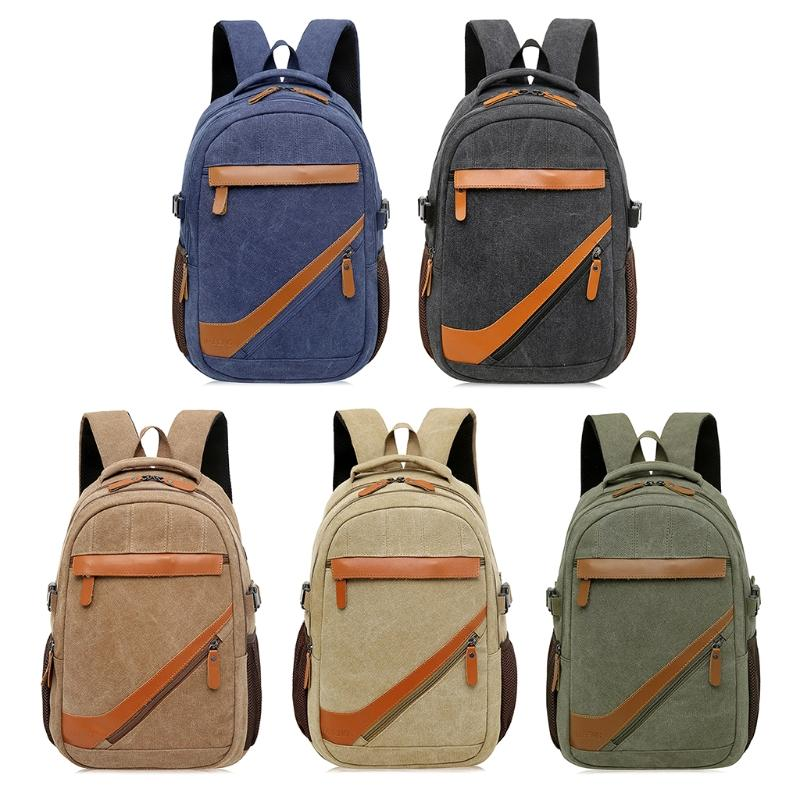 THINKTHENDO Men S Vintage Canvas Backpack Rucksack Laptop Shoulder Travel  Camping Bookbag Swiss Army Backpack Black Leather Backpack From Hotclutch 8605eb9dd2a04