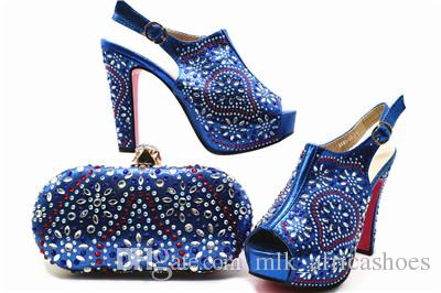New Italy Shoe And Bag African Shoe And Bag Set High Heels Italian Shoe  With Matching Bag Royal Blue Ladies Matching Shoes And Evening Bags Cheap  Heels ... e2bbb9de8425