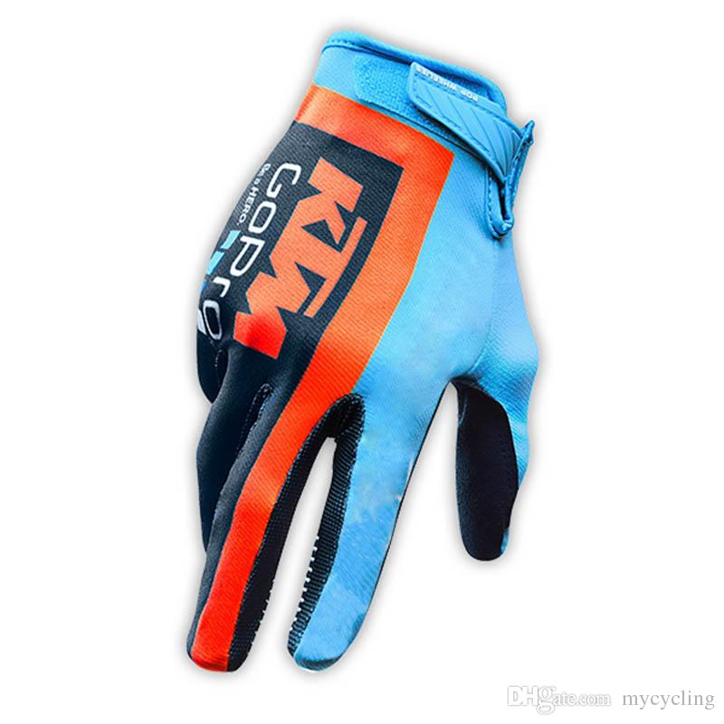 2018 KTM Bike Cycling Gloves Full Finger Gel Padded Outdoor Sports Bicycle Glove Motorcycle Racing Gloves Guantes ciclismo C2205