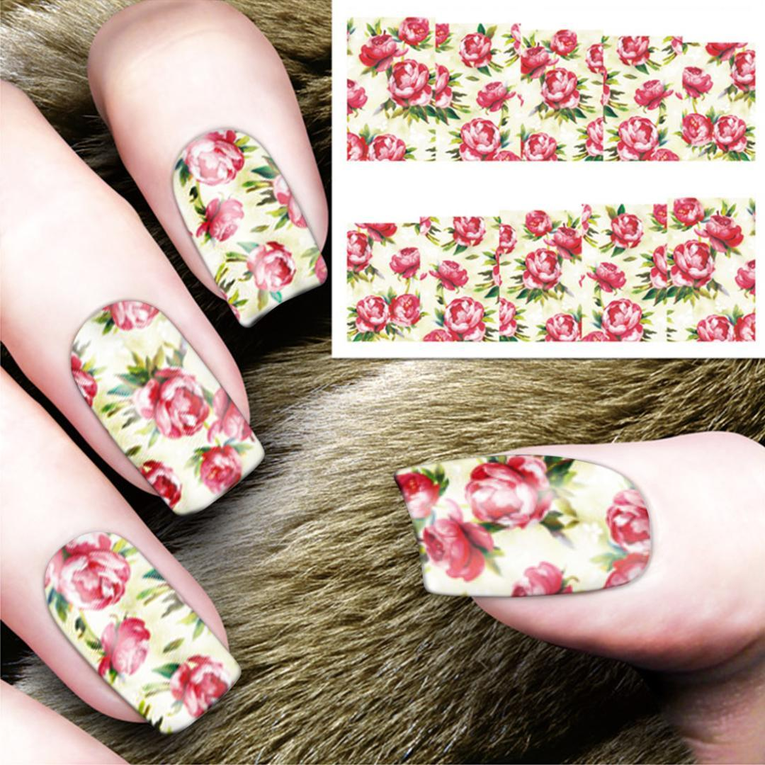 Nail Sticker Decals Water Transfer Nail Art Full Wraps Mixed 48