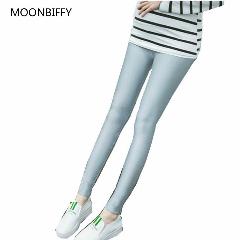 9287bc45e0981 2019 Fashion Maternity Leggings Spring Autumn Pregnancy Wear Gloss ...