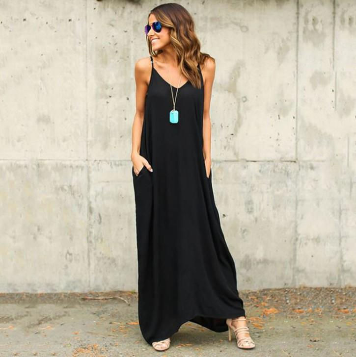 Женская одежда. Платье. Летом. Сексуальное пляжное шифоновое платье. Тонкий. Шифон ткань. Повседневные платья. Chambray. Longuette. В полоску. черный. белый.