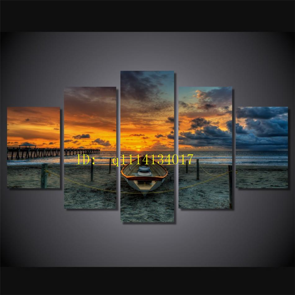 2018 sunset amazing sea clouds nature canvas prints wall art oil
