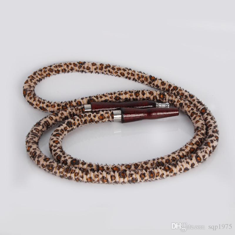 New listing Retro Leather flannelette hookah smoking a pipe non-toxic tasteless hose