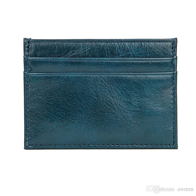Unisex Magic wallet genuine leather card holder Super Slim Men/women business card id holder credit card case wallet for cardholder