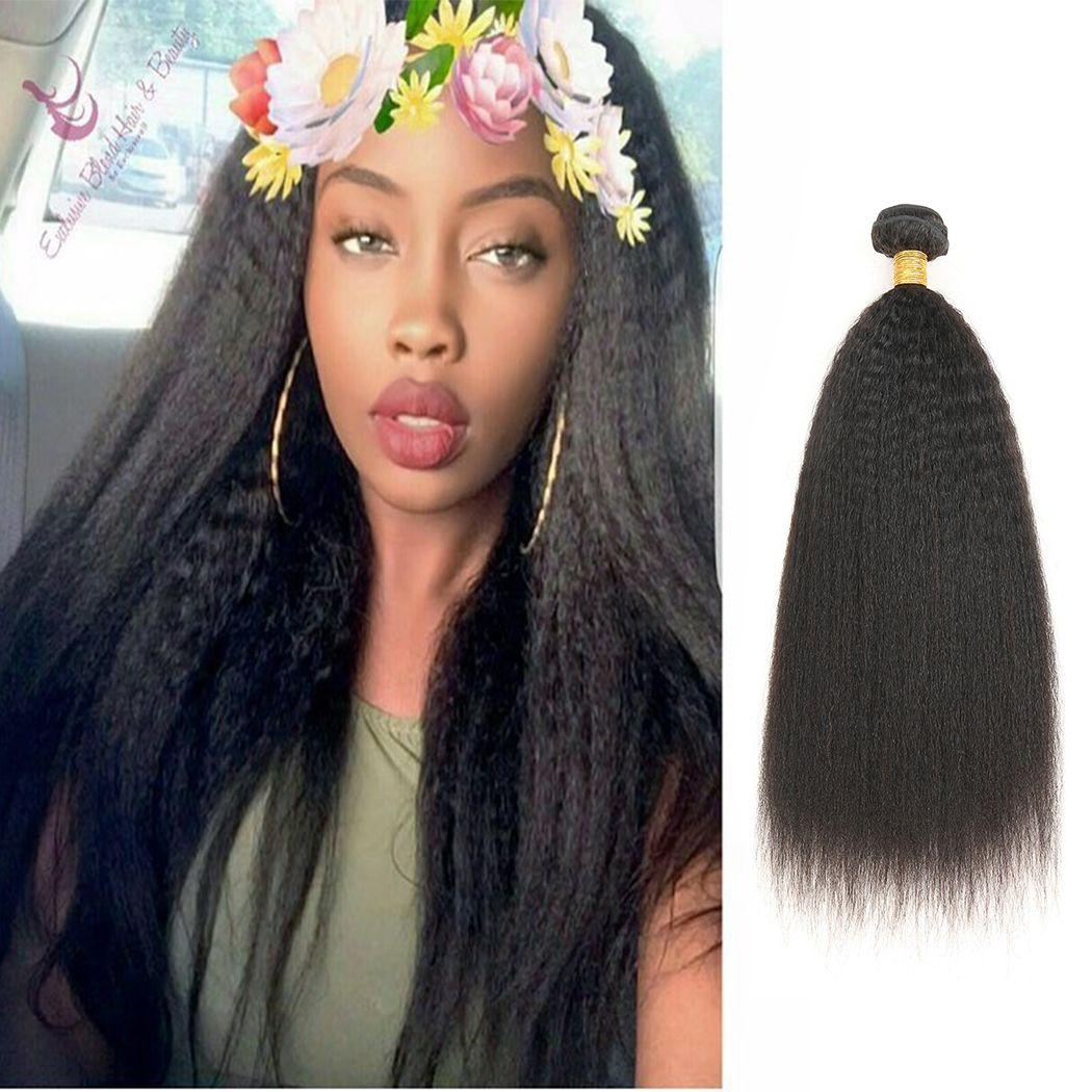 207e5c84354b16 10A Brazilian Virgin Hair Kinky Straight 3 Bundles 100% Brazilian Kinky  Straight Human Hair Extensions Brazilian Coarse Yaki Straight Hair Brazilian  Hair ...