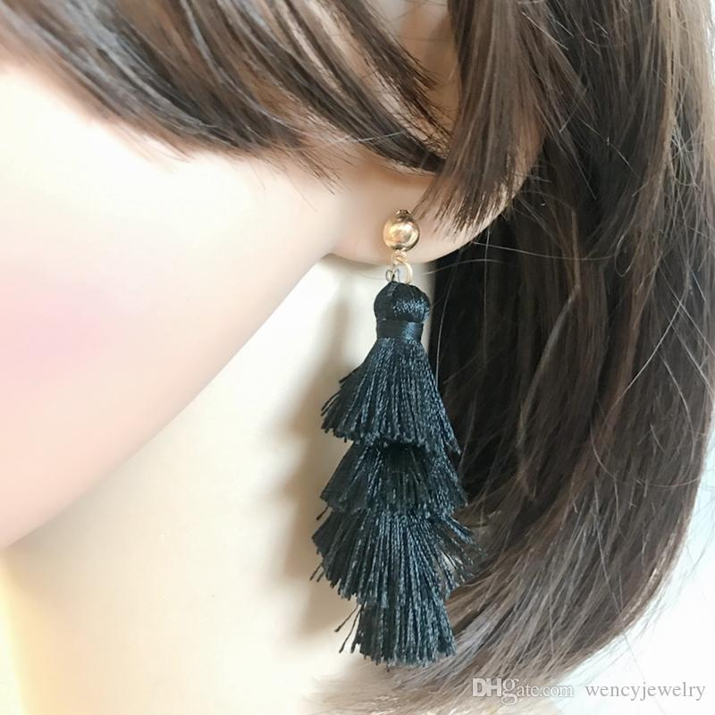 Pagoda Thread Tassel Sweet Jewelry For Women, Hot Popular Earring, Elegant Earring