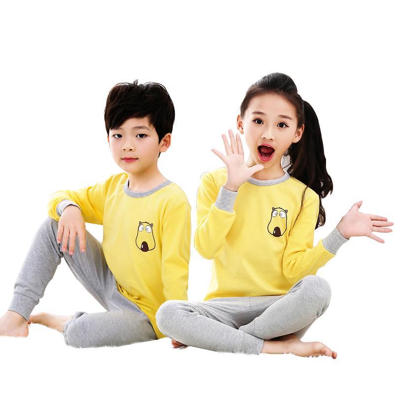 131d55fce6d9 17 Styles All Season Full Sleeve Cartoon Printed Children Pajamas ...