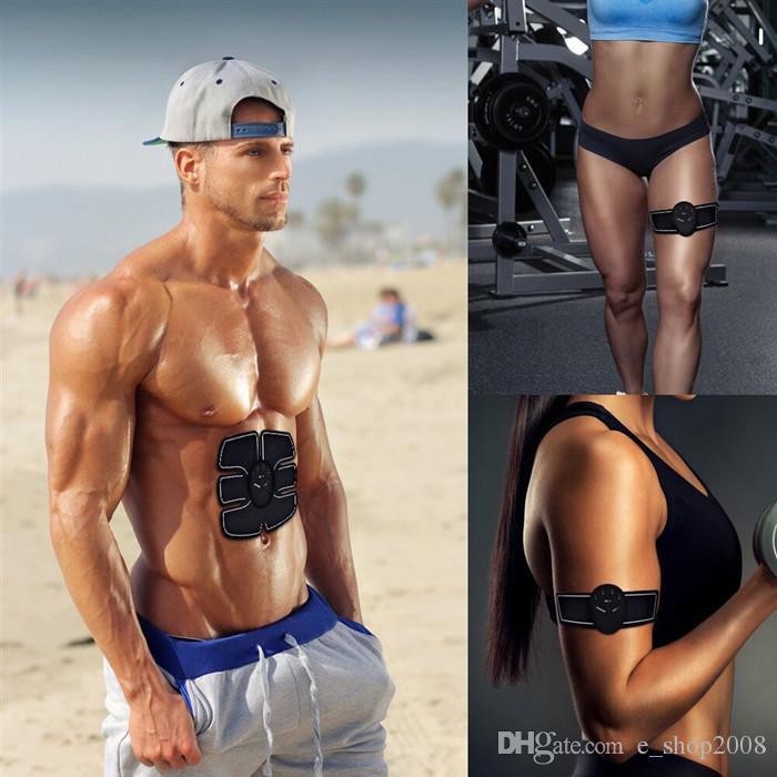 Muscle abdominal Stimulateur de formation sans fil Ceinture EMS Gym Professinal Corps Minceur Massager Home Fitness Beauté Vêtement