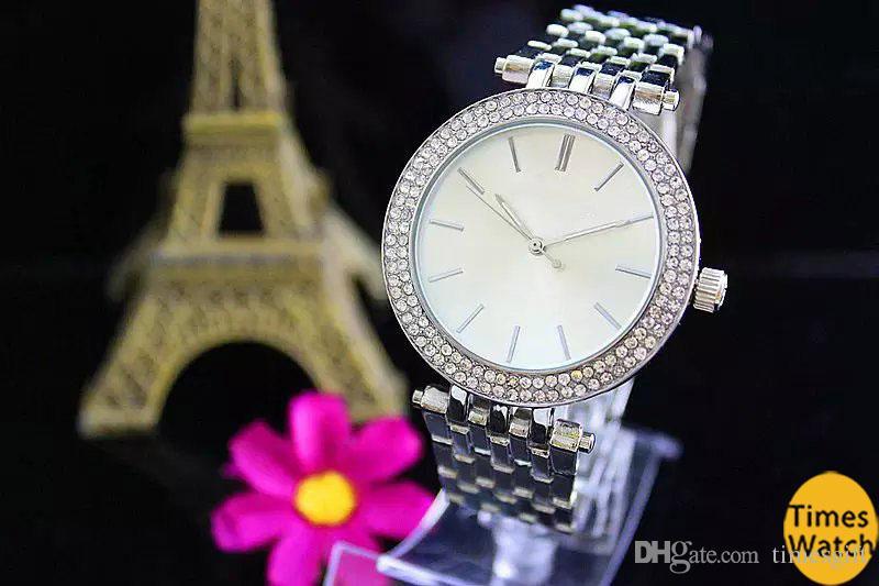 2019 Nuevo Estilo de Moda Reloj de Las Mujeres Regalo de Acero Oro Blanco Japón Japón Reloj de Cuarzo Mujer Damas M Mujer Relojes de pulsera Relojes Mujer