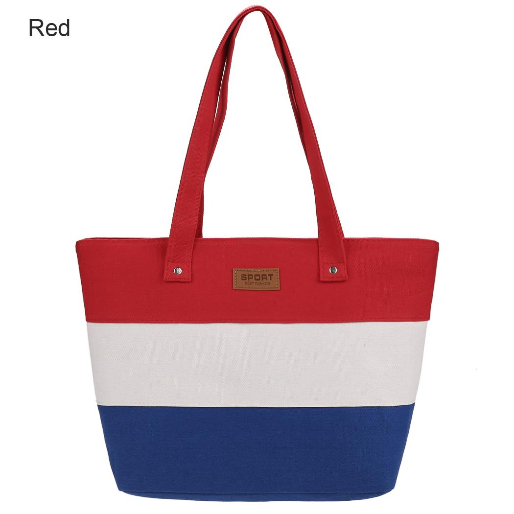 bb1ae6bd077 Fashion Striped Shoulder Bag Women Ladies Casual Style 2018 Cheap Canvas Tote  Bag Hot Sale Black Bags Crossbody Purse From Foxtotho, $54.74| DHgate.Com