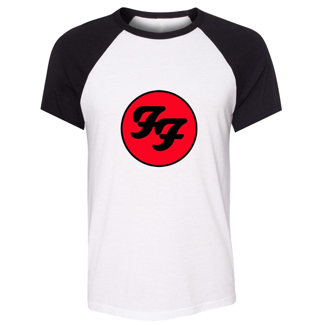 513ff5edd39 IDzn Unisex Summer T Shirt Foo Fighters Hard Rock And Roll Band Pattern  Design Raglan Short Sleeve Men T Shirt Casual Tee Tops T Shirt Of The Day  Buy ...