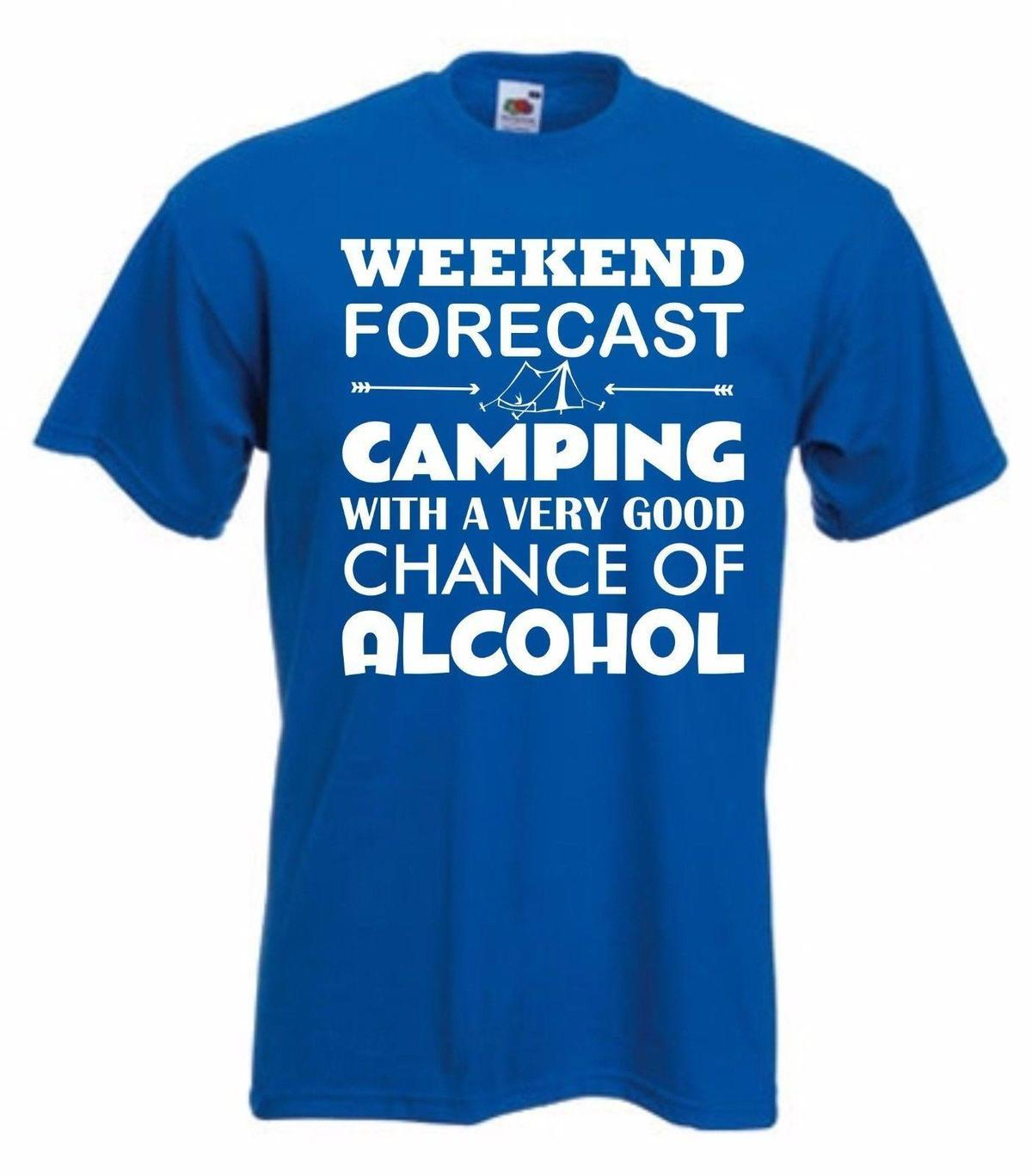 27db124940 Tent Alcohol T Shirt Funny Camping TShirt Weekend T Shirt Wine Beer S XXL  Tees Online Print Tees From Yuxin0004, $13.8| DHgate.Com